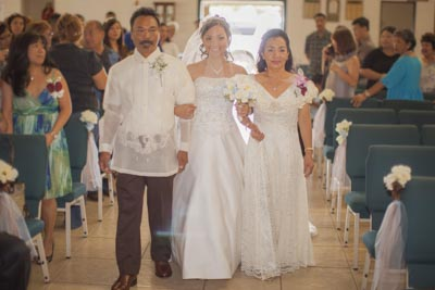 Lorna and Adrinne, Waipahu,Waikikim Hawaii, traditional wedding
