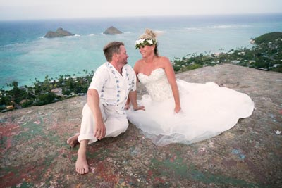 Hike up to the Pillboxes in Lanakai for Ty and Joyce Strong's 2016 wedding