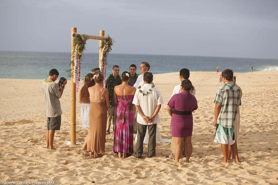 North S Oahu Hawaii Beach Wedding